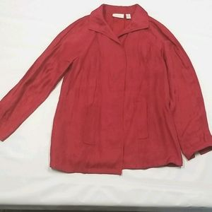 Chicos Womens Open Front Blazer Sz 0 With Pockets